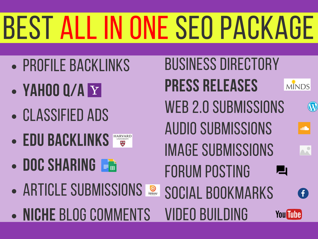 all in one white hat foundation link seo package with social signals