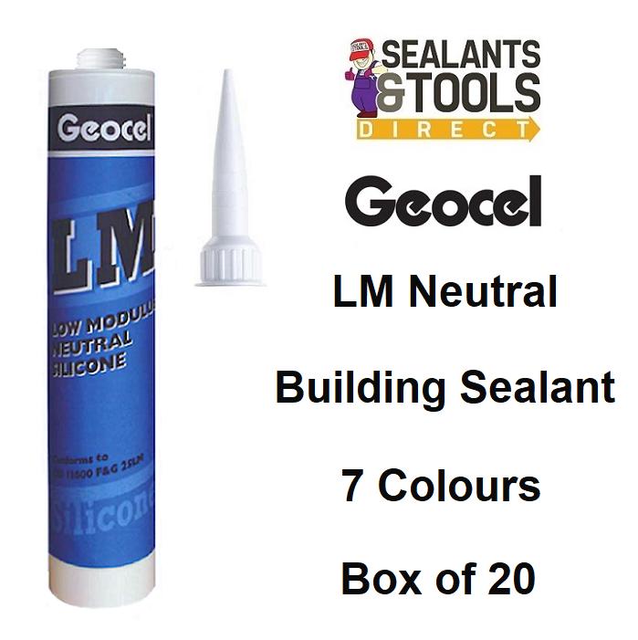 Geocel Low Modulus Coloured Silicone Sealant Box of 20
