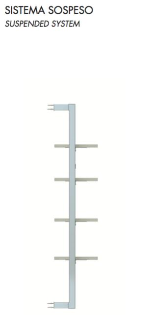 Montante per pareti in alluminio