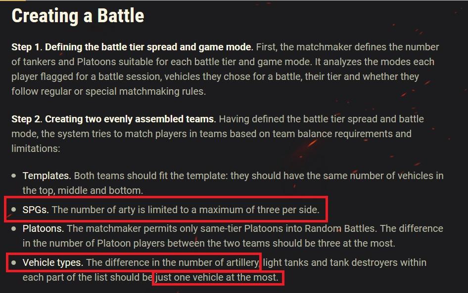 Matchmaking rules wot