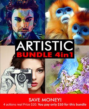 Artistic bundle  - Artistic bundle - Tech Sketch Photoshop Action