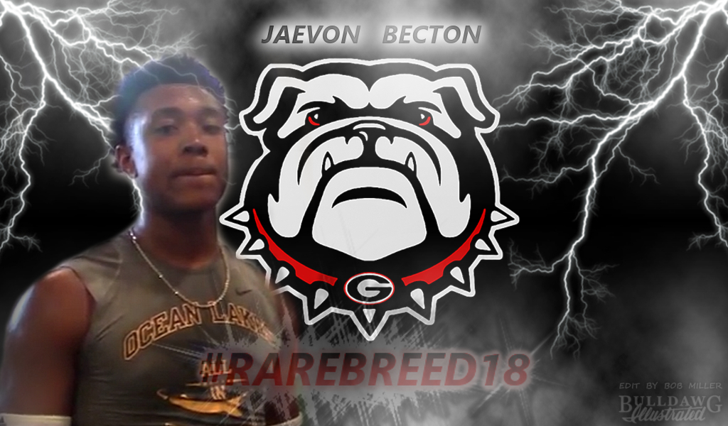Jaevon Becton, class of 2018 DE, Georgia RAREBREED18 edit by Bob Miller