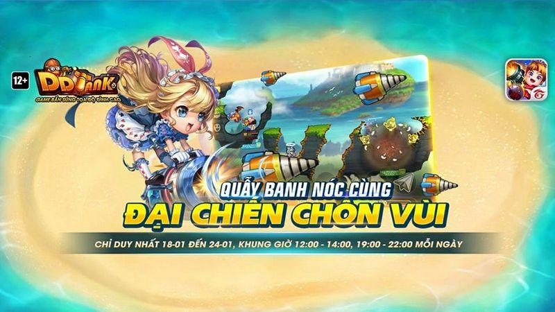 Garena DDTank ra mắt tuần lễ vàng 18/01-24/01 với những trải nghiệm thú vị