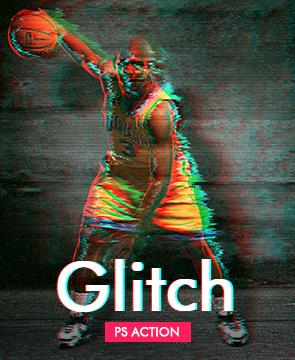 Glitch Photoshop Action  - Glitch - Tech Sketch Photoshop Action