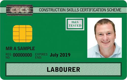 Example of Labourer CSCS Card (GREEN)
