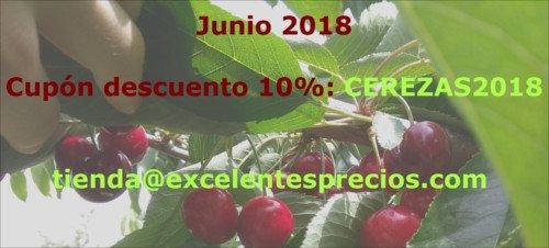 comprar cerezas online, descuento, 2018, cerezas muy grandes