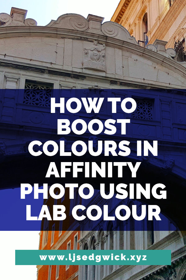 There are many ways to boost colours in Affinity Photo. But in this tutorial, you'll be using Lab Colour to boost colours and make your images POP!