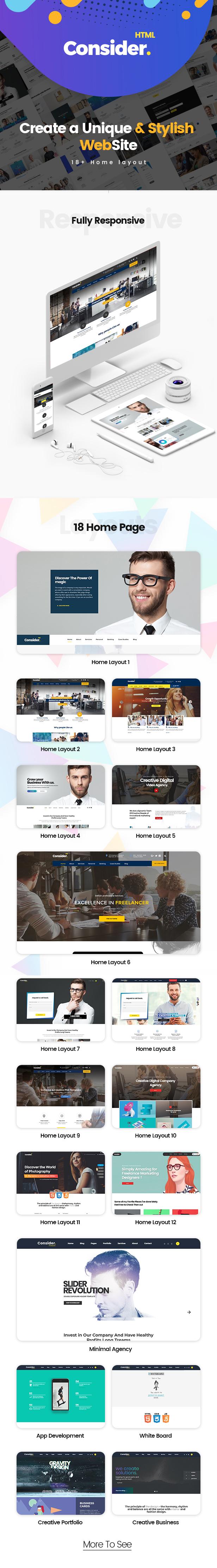 Consider - Multi-Purpose Responsive HTML5 Template - 1