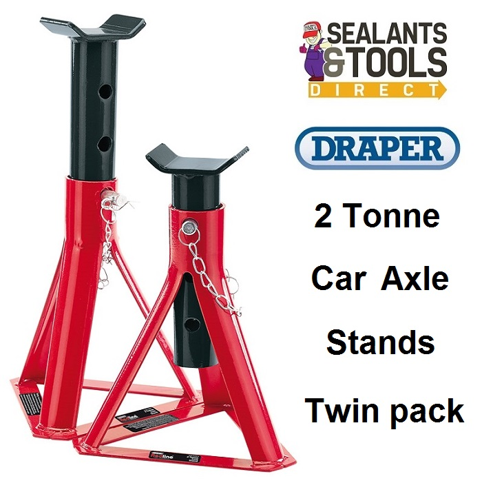 Draper Redline 2 Ton Car Axle Stands 80918 RL-AS2/B