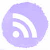 Lilac watercolor social media RSS icons
