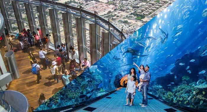 Cheapest Burj Khalifa Top floor Tickets and Dubai Mall Aquarium Combo