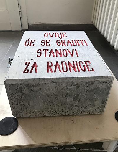 Rafaela Drazic BLOK akcija polaganja kamena temeljca kod Bubare