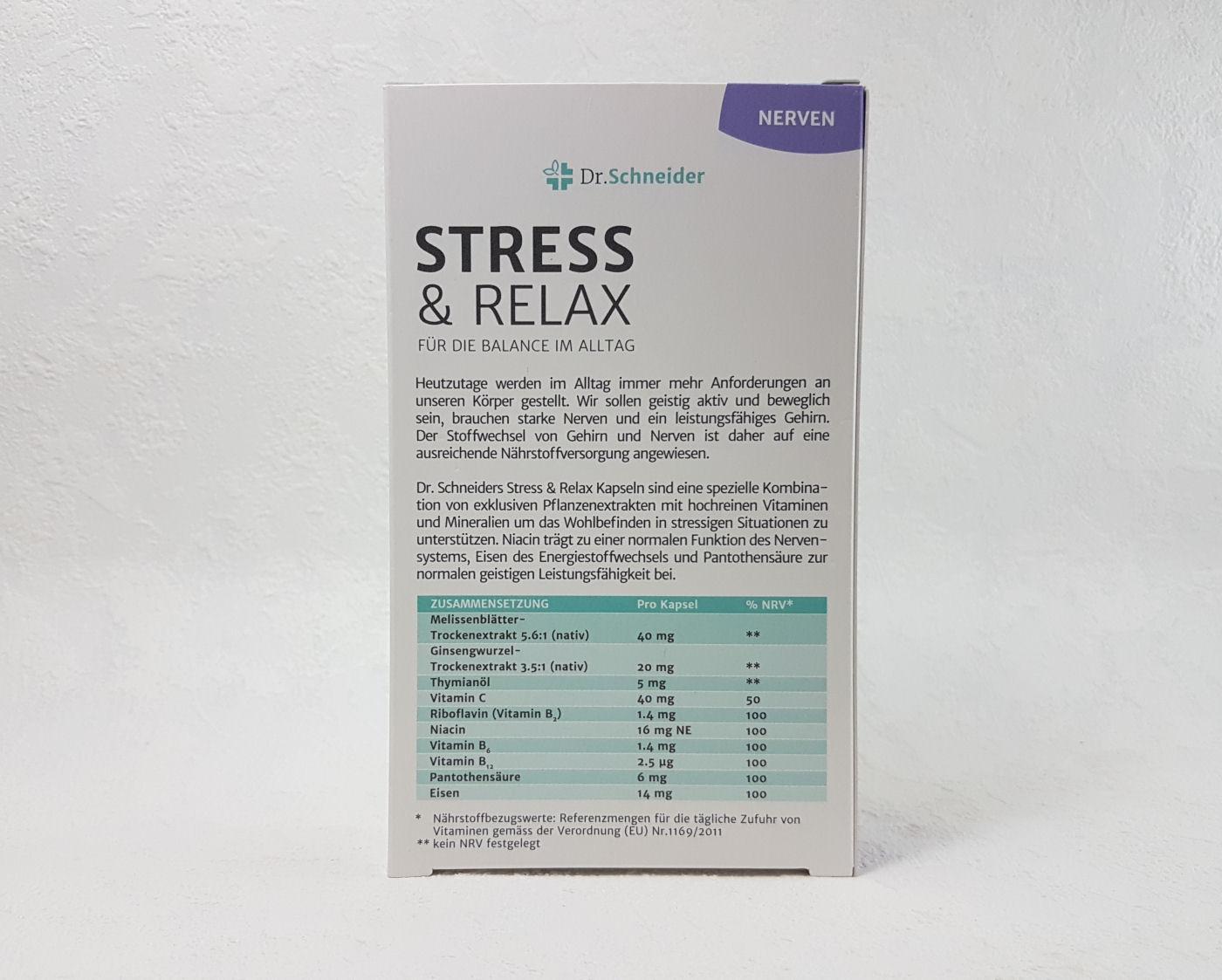 Project: Test It!: Dr. Schneider Stress & Relax für Balance im Alltag