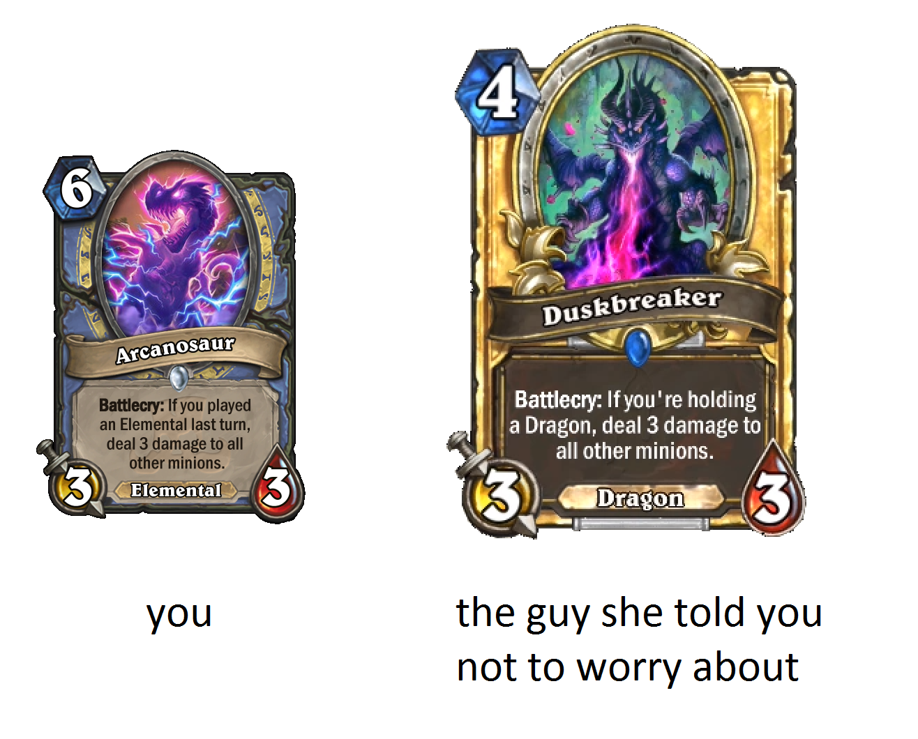 you vs. the guy