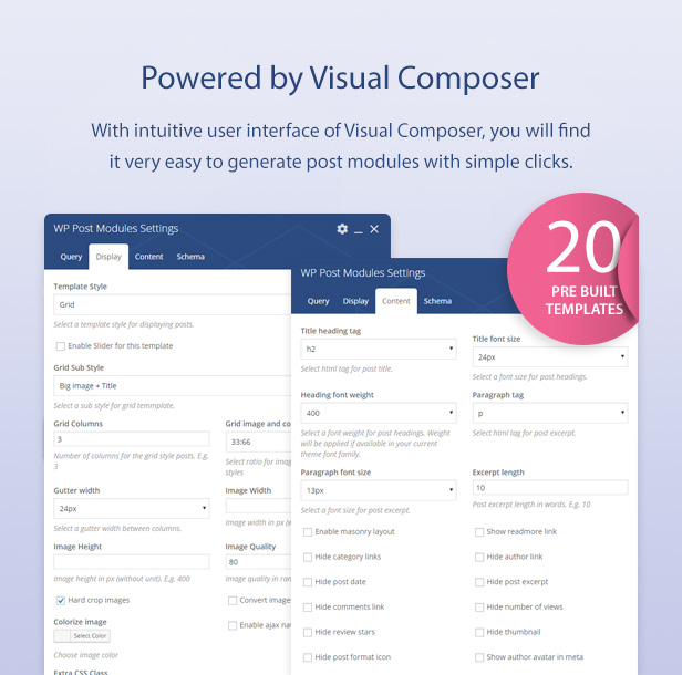 Visual Composer addon