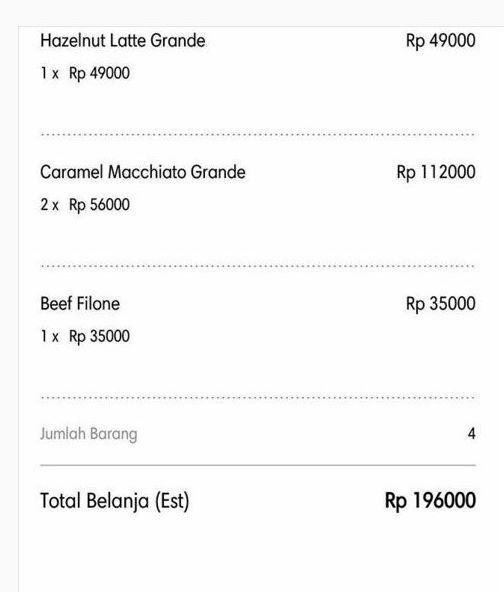 Total pesanan