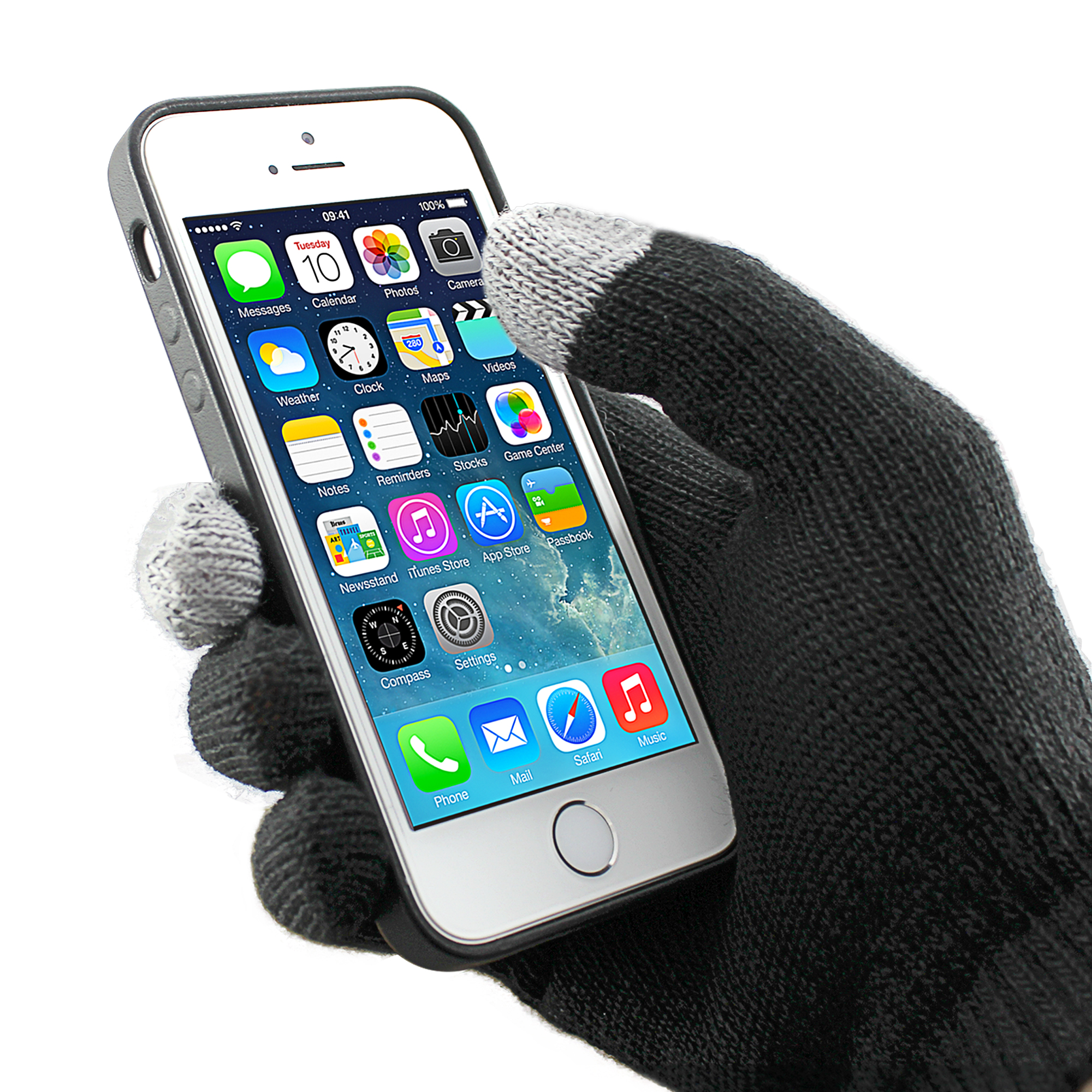 Beechfield Mens Womens  Touch Screen Gloves Iphone Smartphone Knitted Warm