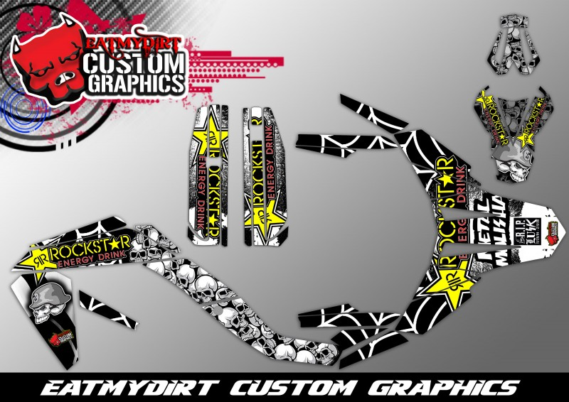 Details about FOR APRILIA MX SX 125 2009-2013 CUSTOM GRAPHICS KIT DECALS  MOTOCROSS STICKERS