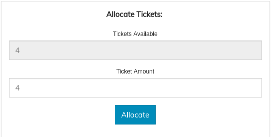 Allocate Tickets