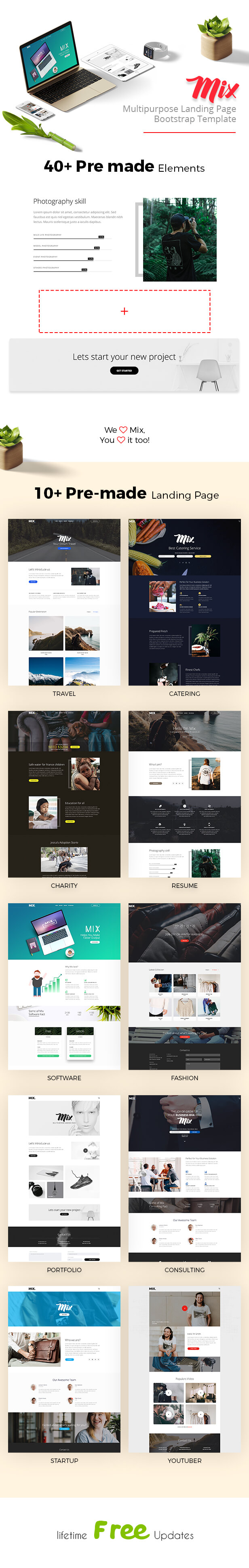 Mix Multipurpose-Consultancy, Travel, Startup, Software, Charity, Catering, CV, Creative, Youtuber - 2