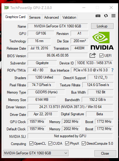 Suddenly my Nvidia 1060 is running 100% in task manager