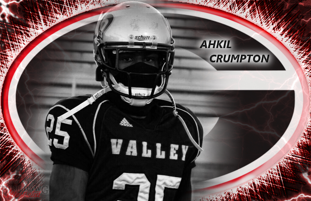 Ahkil Crumpton edit by Bob Miller / Bulldawg Illustrated (photo from Ahkil Crumpton / Twitter)