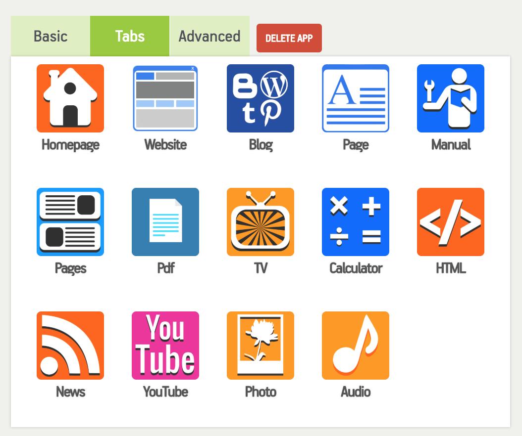 Tienes varias secciones para hacer la aplicación para Android que quieres.