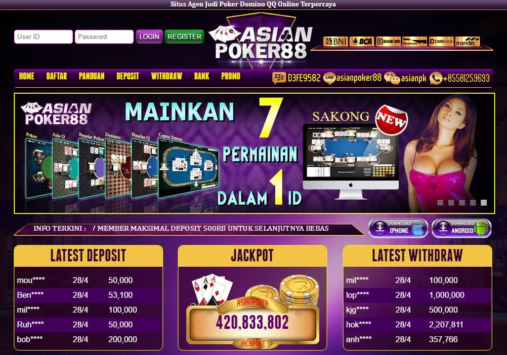 Agen Poker Online Terpercaya dan Ter-stabil