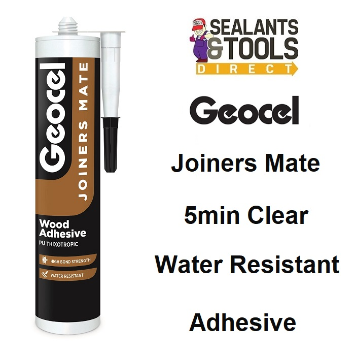Geocel Joiners Mate 5 min Clear PU Wood Adhesive 310ml