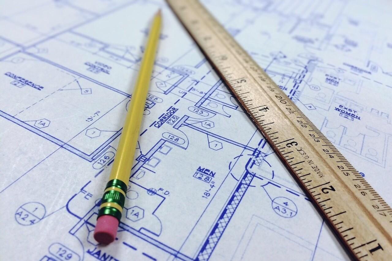 Cara Menggambar dan Huruf Tipografi Arsitektur