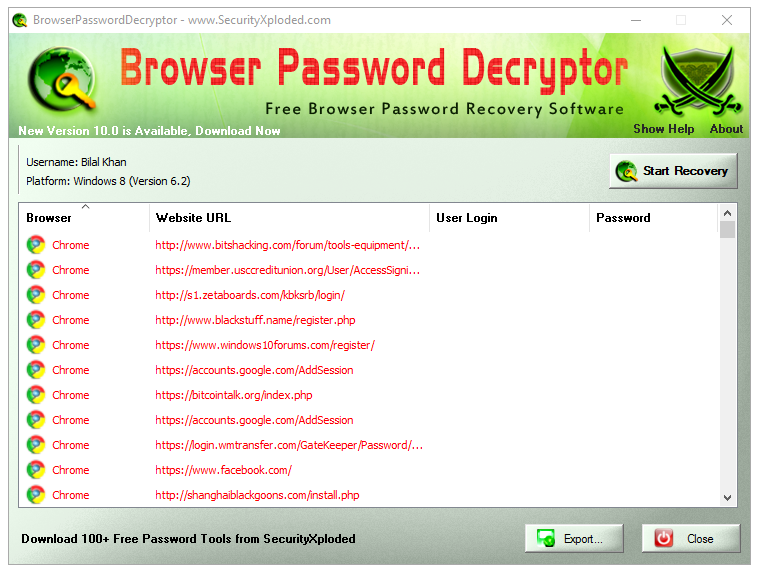 Browser Password Decryptor