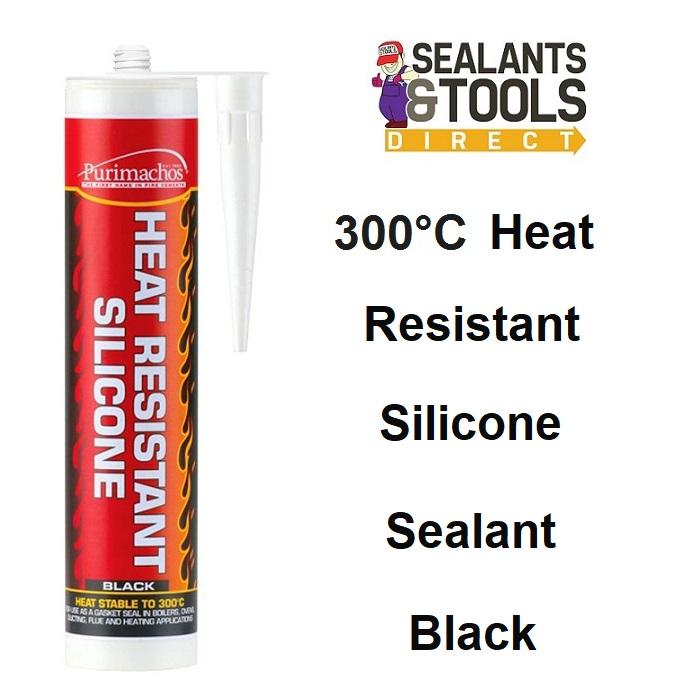 Everbuild Purimachos Fire Heat Resistant Silicone PCHEATSIL Black
