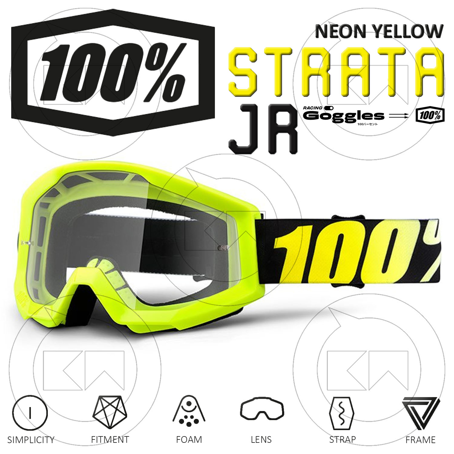 100/% Accuri//Strata Youth Lentille Tear-offs 20-Pack