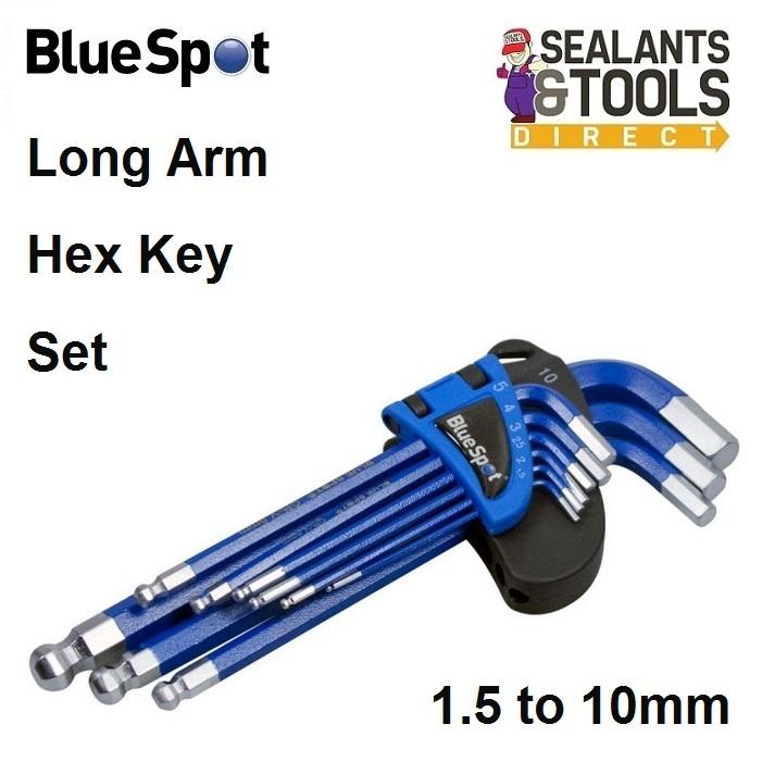 Blue Spot Long Ball End Hex Allen Key Set 15374