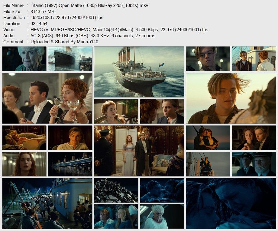 TITANIC (1997) 1080p x265 10Bits Open Matte