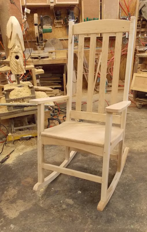 Strange Simple Rocking Chair Customarchery Wood Chair Design Ideas Customarcherynet
