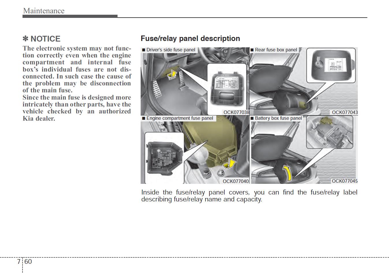 Kia Stinger Interior Fuse Box Login Location And Reference