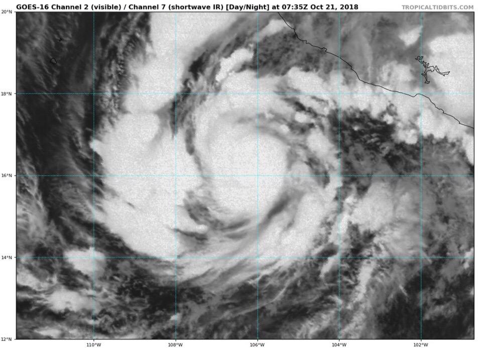 Ураган «Вилла» сформировался у тихоокеанского побережья Мексики