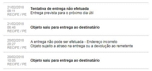 Correios brasileiros, estorias de dor. - Página 3 Entrega