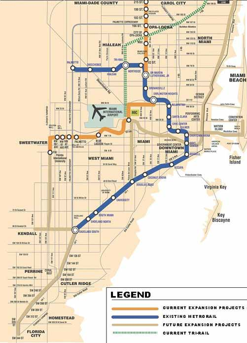 Miami Metro Rail Map Miami, where is the Metrorail expansion we were promised in 2002  Miami Metro Rail Map