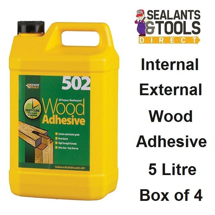 Everbuild 502 Wood Adhesive 5 litre WOOD5 Box of 4