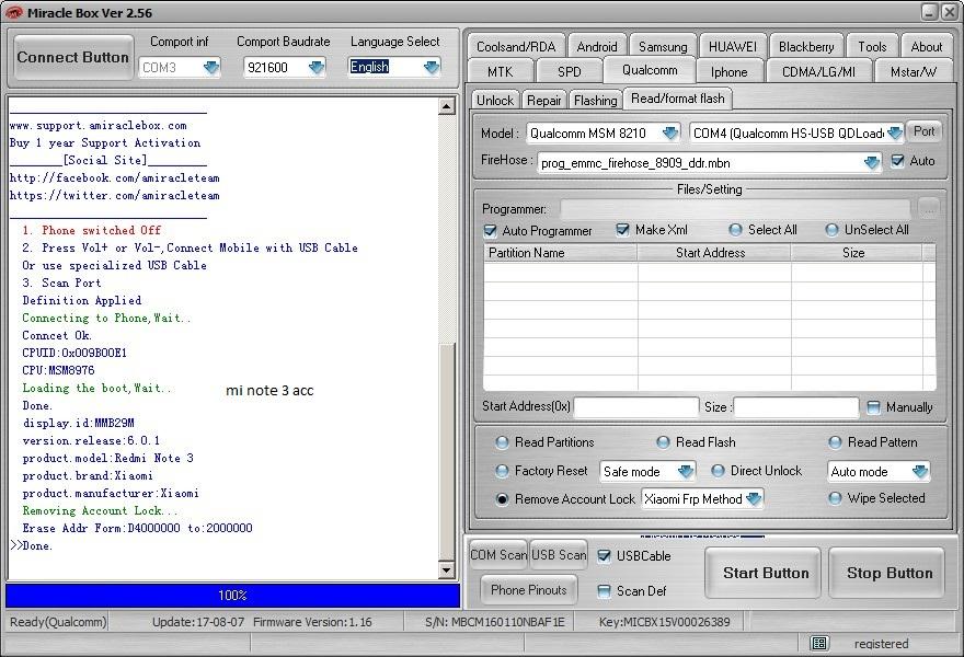 Redmi note 3 mi account remove done - GSM-Forum