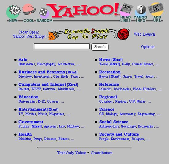 old yahoo 1995
