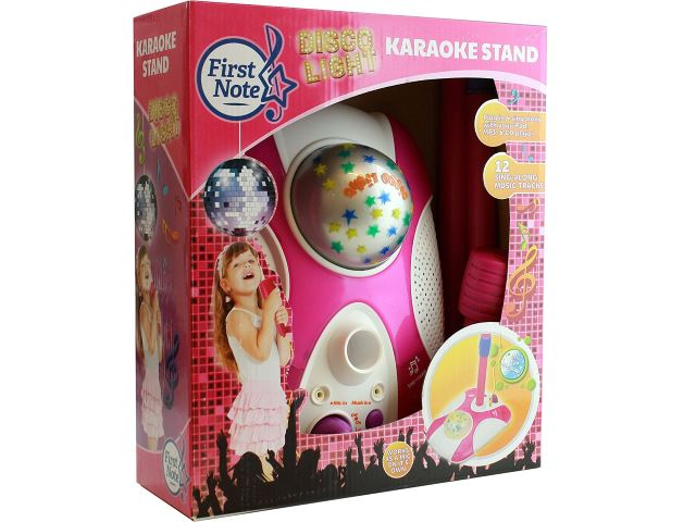 IQ Toys . Includes 12 pre-Loaded Popular Songs and Connects to iPods Karaoke Disco Light Adjustable Mic /& Speaker Stand Smartphones /& MP3 Players Pink