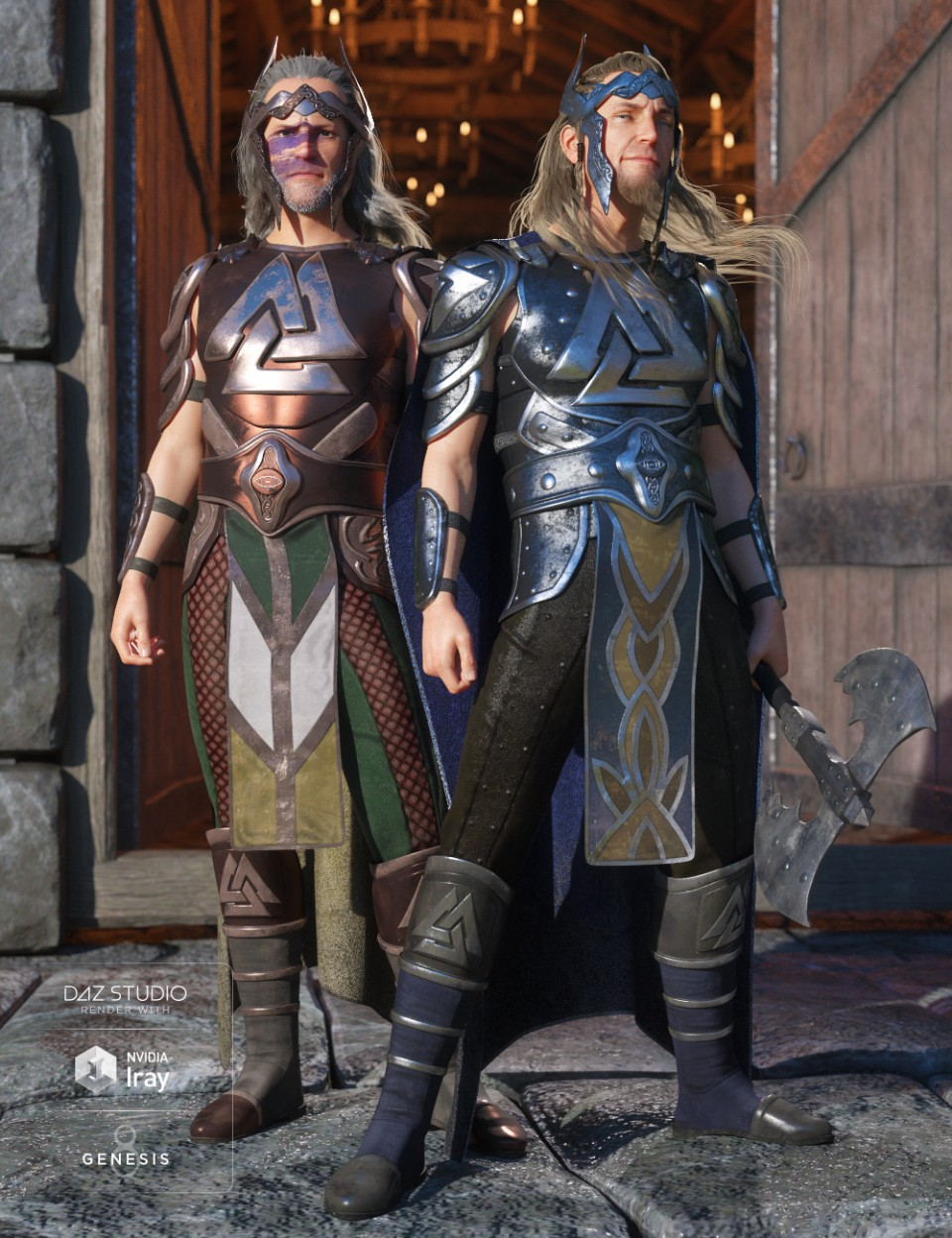 dForce Warrior King Outfit Textures