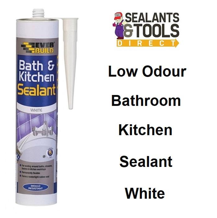 Everbuild Bath & Kitchen Acrylic Sealant Low Odour White