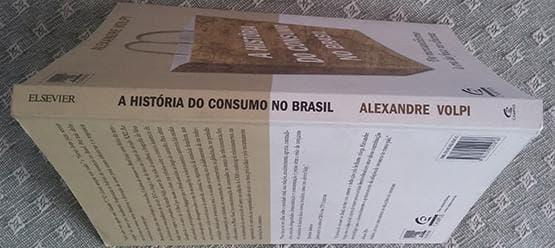 Lombada livro A história do consumo