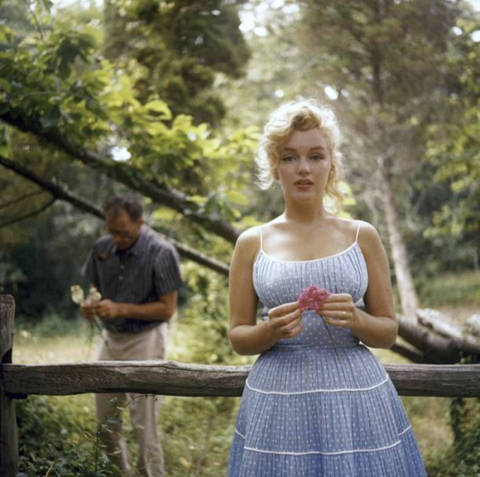Marilyn Monroe and Arthur Miller photographed by Sam Shaw 1957