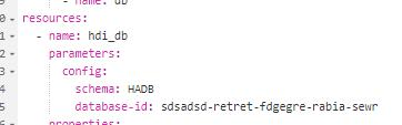 Database id