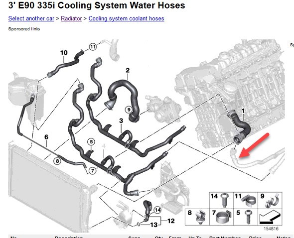 n54 engine cooling system diagram technical diagrams n54 engine diagram water hoses bmw 5& 39; e60 lci 535i n54